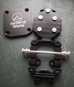 A simple machined aluminum baseplate that uses the G3 6-hole pattern. Cable position is adjusted by removing the steel cover and moving the cable post. 4 positions: ~ 45, 60, 72, 85 mm