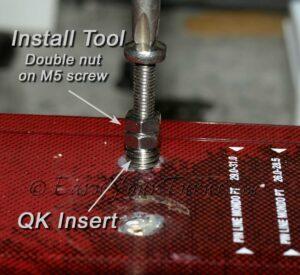 Installing inserts ski bindings