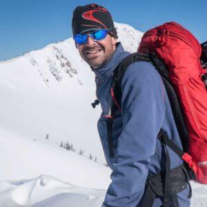 JT Robinson telemark skier Moonlight Mountain Gear